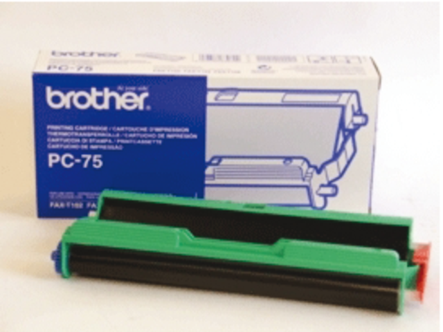 Photo: DONORROL BROTHER PC-75 + CARTRIDGE