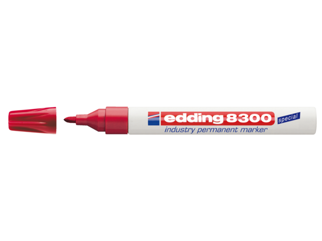 Photo: VILTSTIFT EDDING 8300 INDUSTRIE ROND 1-3MM ROOD