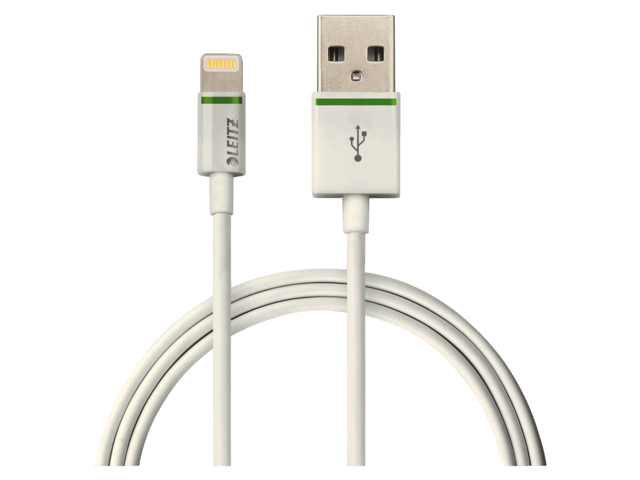 Photo: KABEL LEITZ COMPLETE LIGHTNING-USB 1M WIT