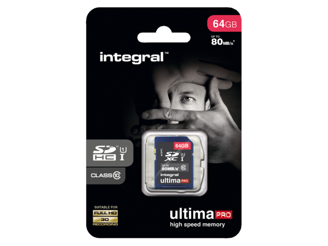 Photo: GEHEUGENKAART INTEGRAL SDXC 64GB ULTIMAPRO CL10