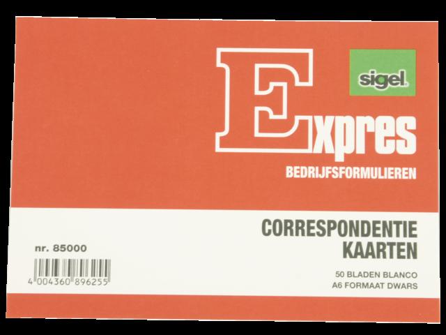 Photo: CORRESPONDENTIEKAART SIGEL EXPRES A6 IVOORKARTON