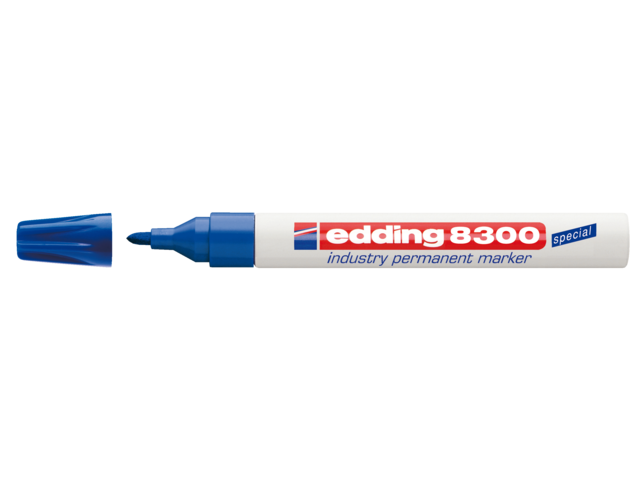 Photo: VILTSTIFT EDDING 8300 INDUSTRIE ROND 1-3MM BLAUW