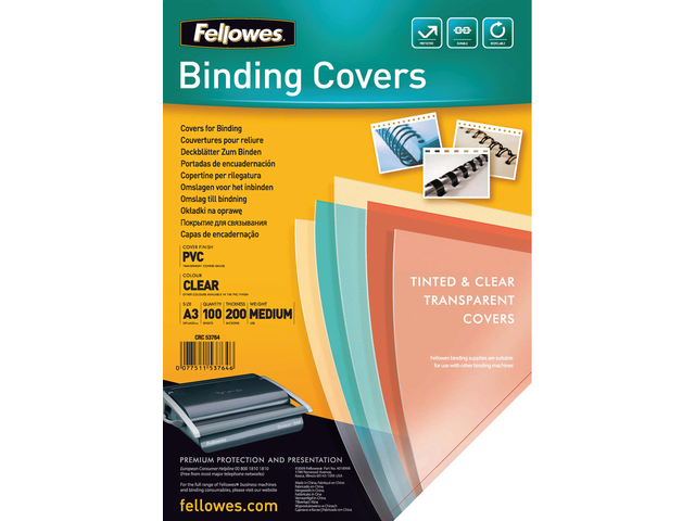 VOORBLAD FELLOWES A3 PVC 200MICRON 2