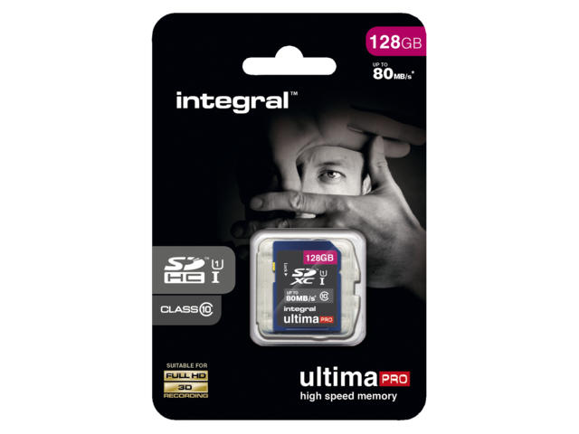 Photo: GEHEUGENKAART INTEGRAL SDXC 128GB ULTIMAPRO CL10