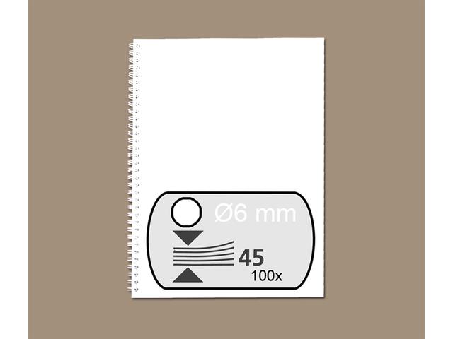 Photo: DRAADRUG GBC 6MM 34RINGS A4 WIT