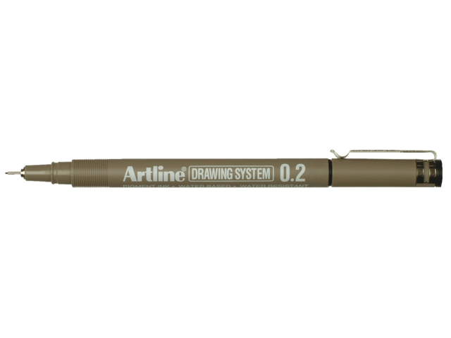 Photo: FINELINER ARTLINE 0.2MM ZWART