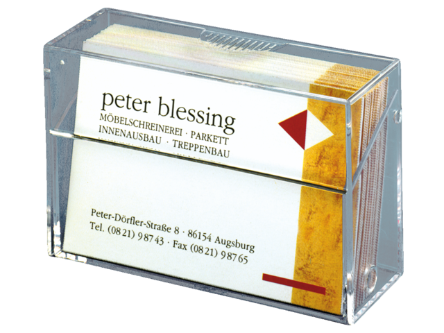 Photo: VISITEKAARTBOX SIGEL 85X56X27MM GLASHELDER