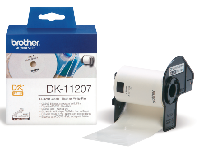 Photo: LABEL ETIKET BROTHER DK-11207 58MM CD/DVD WIT