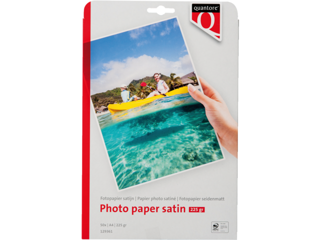 Photo: FOTOPAPIER QUANTORE A4 250GR MAT SATIJN