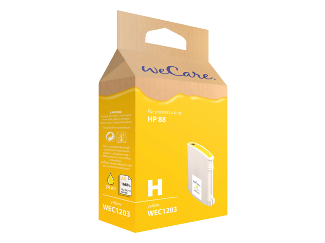 Photo: INKCARTRIDGE WECARE HP 88XL C9393AE HC GEEL