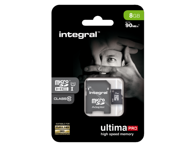 Photo: GEHEUGENKAART INTEGRAL MICRO SDHC 8GB ULTIMAPRO CL10