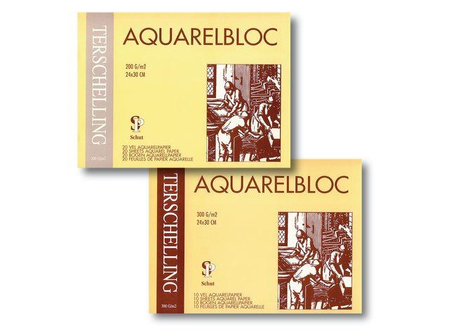 Terschelling aquarel blokken