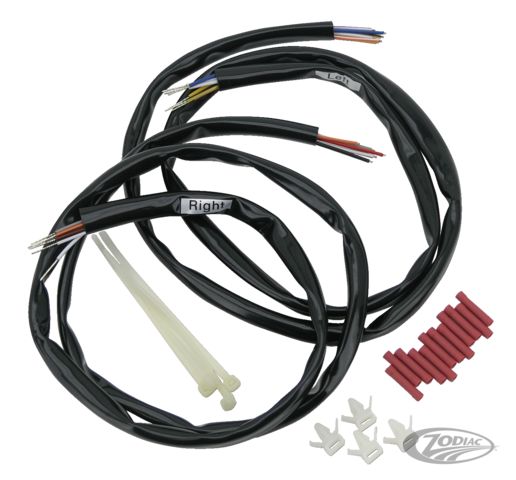EXTENDED HANDLEBAR WIRING KITS FOR 1996 THRU 2006 MODELS - Zodiac on ignition harness, tire harness, seat harness, gear harness, spark plug harness, headlight harness,