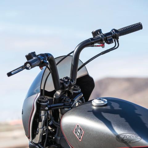 "RSD Hand Grips for Harley Sportster Chopper Electronic Throttle 1/"" Handle Bar"