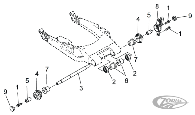 swingarm parts for 2009 to present touring models