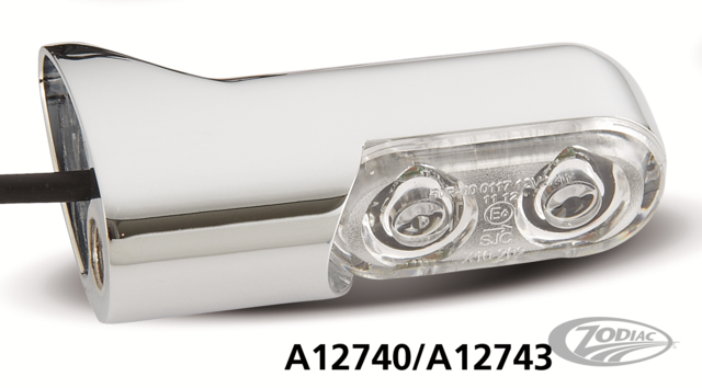 ARLEN NESS DIRECT BOLT ON TURN SIGNALS WITH POWER LED - Zodiac