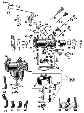 HARLEY Oversized Linkert Carburetor Venturi Panhead