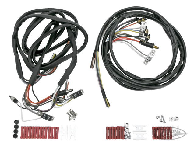 HANDLEBAR WIRING HARNESSES WITH SWITCHES AND HARDWARE - Zodiac on