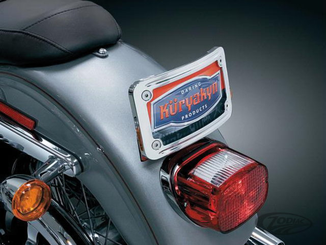 Curved Tip-Back License Plate Frame - Taco-Motos Amsterdam