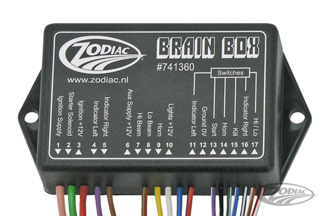 custom motorcycle wiring harness the zodiac brain box zodiac  the zodiac brain box zodiac