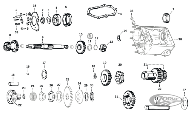big-twin 4 speed transmission parts