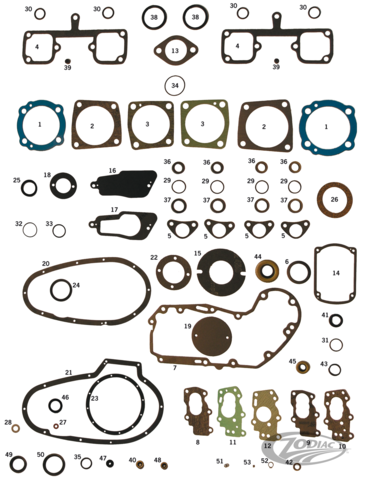 James Gasket Tappet Guide Block O-Ring 25 Pack 11100*