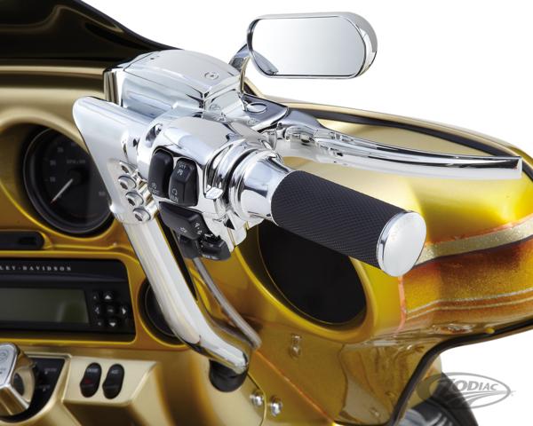 Arlen Ness nere Smoothie Fusion manopole Harley Davidson doppio cavo