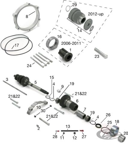 Harley Davidson OEM Output Gear Seal O-Ring //// PN 11201