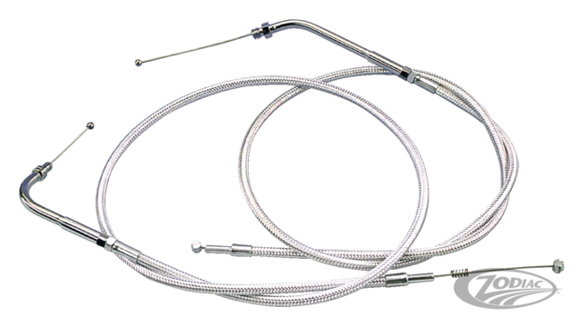 Throttle And Idle Cables For Use With Aftermarket Carburetors