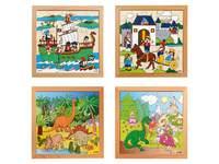 Puzzles Piraten, Ritter, Dinosaur und Drachen
