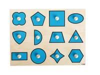Einlegepuzzle Geometrische Formen 12 Teile