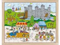 Puzzles Ritter und Prinzessin