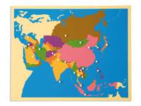 Inlegkaart Azië