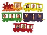 Fotolijstjes in treinvorm