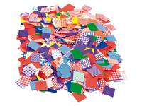 Papier-Stanzteile Mosaik, diverse Muster
