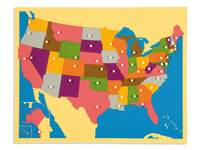 Inlegkaart Verenigde Staten van Amerika
