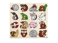 Einlegepuzzle groß mit Tieren