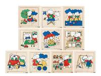 Puzzelserie bezige muizen