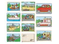 Tweelagen puzzel voertuigen