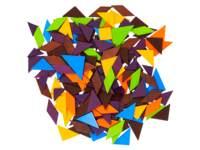 gekleurde houten tangrammen